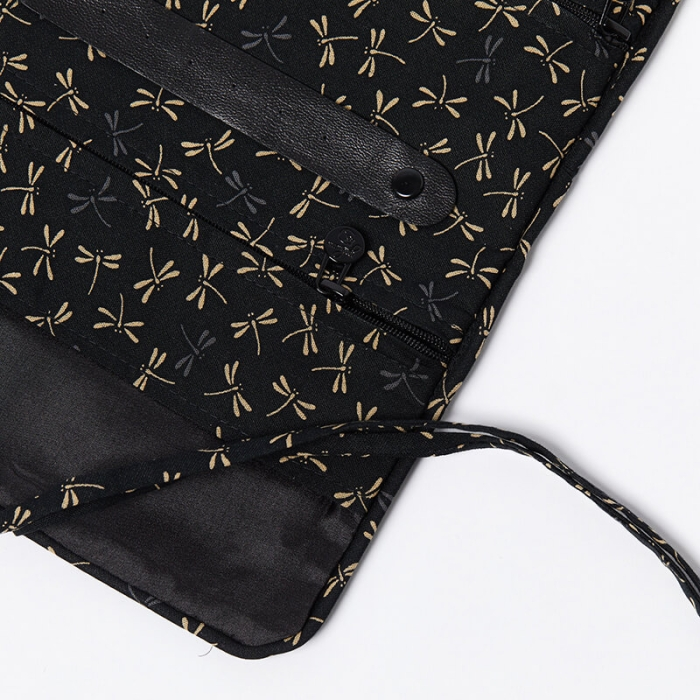 Jewellery-Roll-Black-Dragonfly-Top