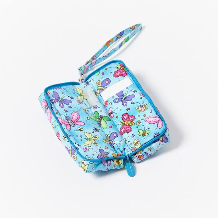 Multi-Purpose-Pouch-Butterflies-Blue-Open
