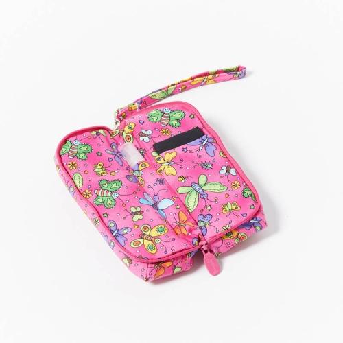 Multi-Purpose-Pouch-Butterflies-Pink-Open