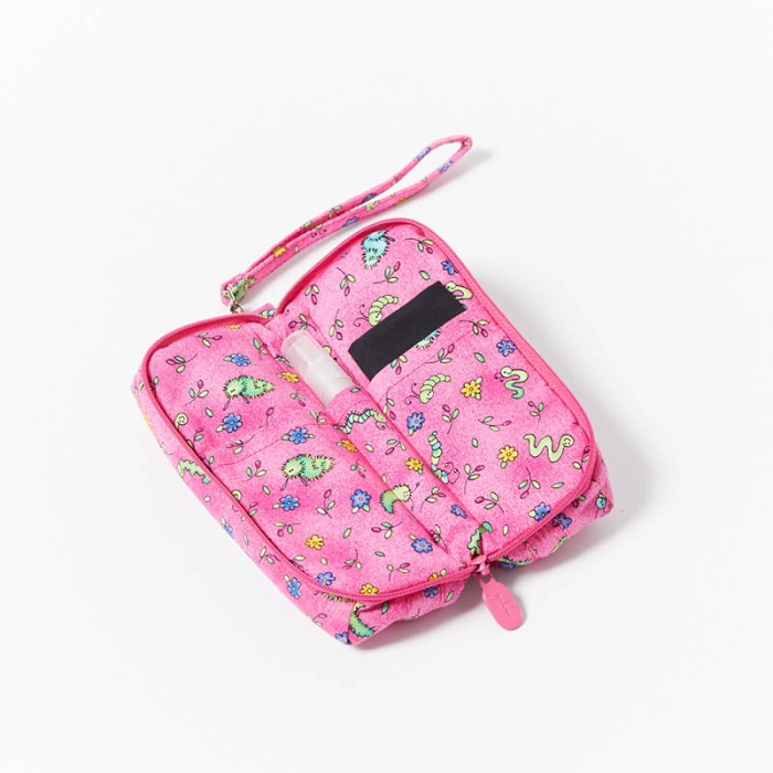 Multi-Purpose-Pouch-Pink-Bugs-Open