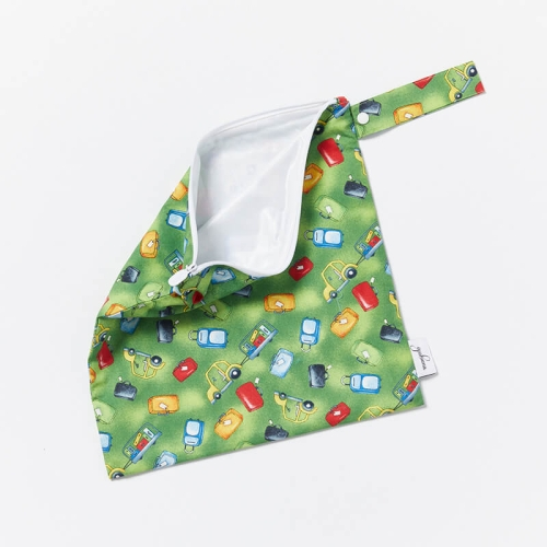 Wet-Dry-Bag-S-Green-Luggage-Open