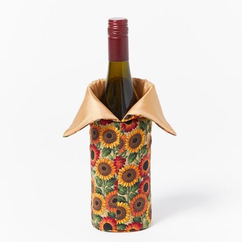 Wine-Bottle-Bag-Gold-Sunflower