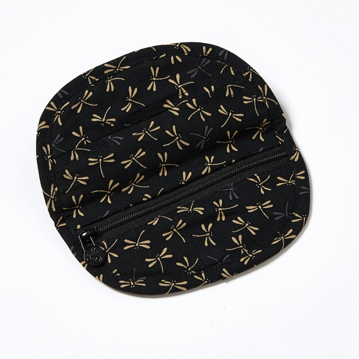 Jewellery-Pouch-Black-Dragonfly-Open